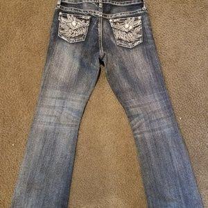 Arizona girls embellished boot cut Jean's size 12